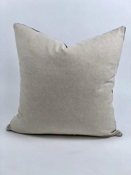 Bryar Wolf Eagle Mud Cloth Pillow - Black