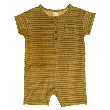 KIDS Nico Nico Spiro Striped Romper - Chartreuse Yellow