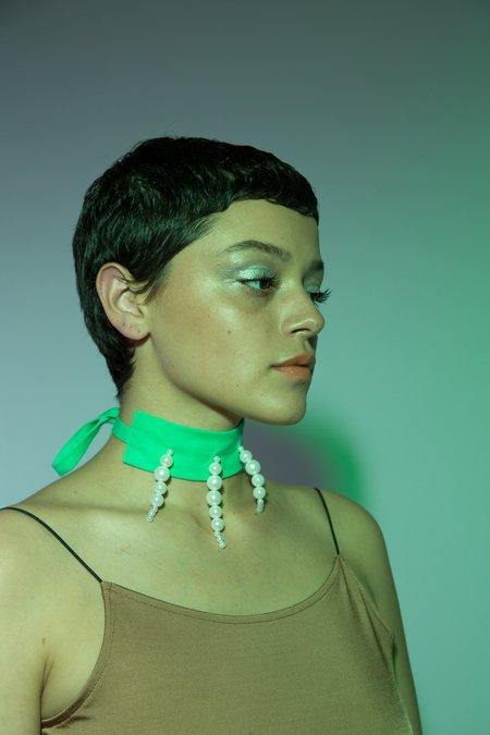 Desireeklein Pearl Choker - mint green