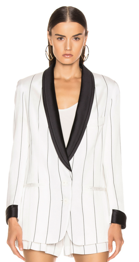 2dee1f0a758c Smythe Salon Blazer - White/Black Pencil ...