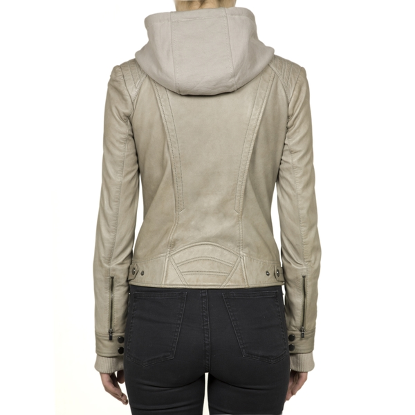 LAMARQUE Biker Jacket with Detachable Hood