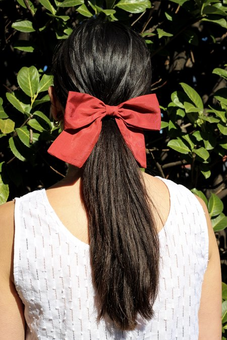 Bianca and Red Classic Bow
