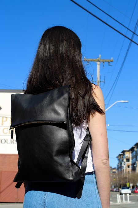 Minor History Traveler Square Backpack - Black