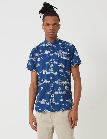 Deus Ex Machina Ralph Springs Shirt - Blue Springs