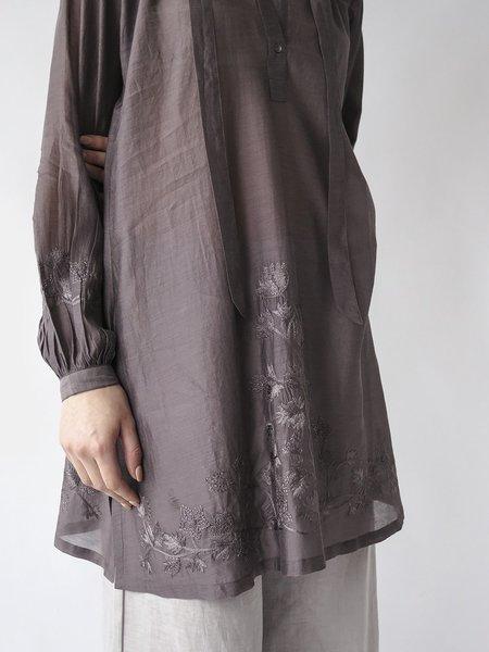 Erica Tanov jill embroidered tunic - dark basalt