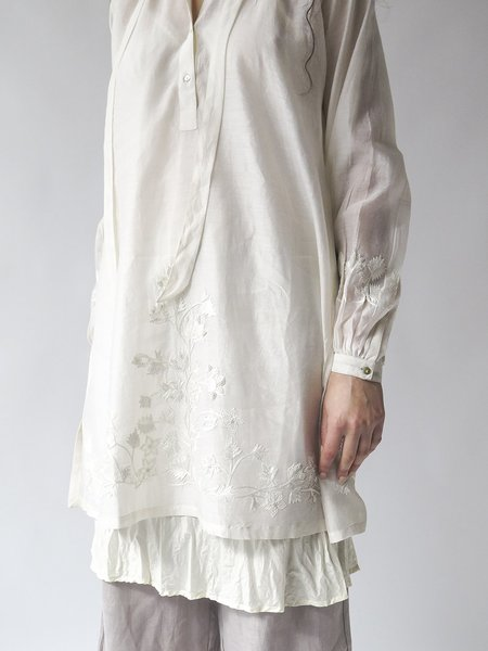 Erica Tanov jill embroidered tunic - ivory