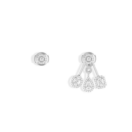 Messika My Twin Trio Earrings with Diamonds - 18k White Gold