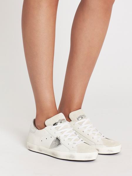 Philippe Model Sneaker - Basic Blanc/Silver