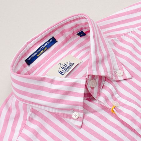 BD Baggies Bradfort BD Shirt With Pocket - Pink Stripes