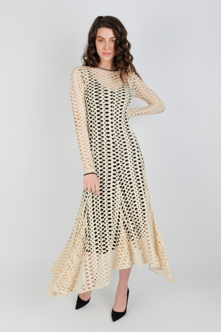 By Malene Birger Pointelle Dress - Dry Desert