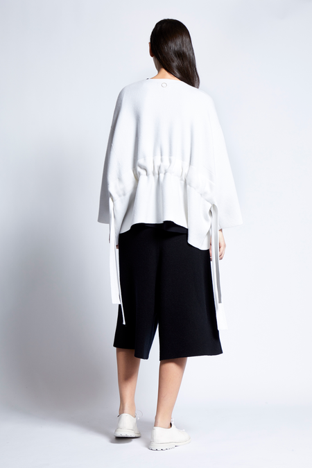 Oyuna Yusra Cashmere and Cotton Blend Jacket - Ivory