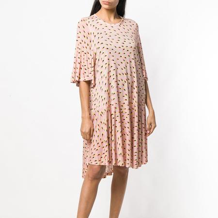 Henrik Vibskov Stream Jersey Dress - Frisky Feathers Pink