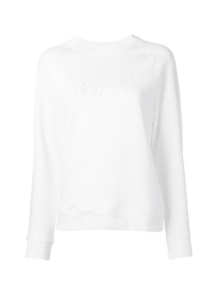 Victoria Beckham RAGLAN SMILE SWEAT - WHITE