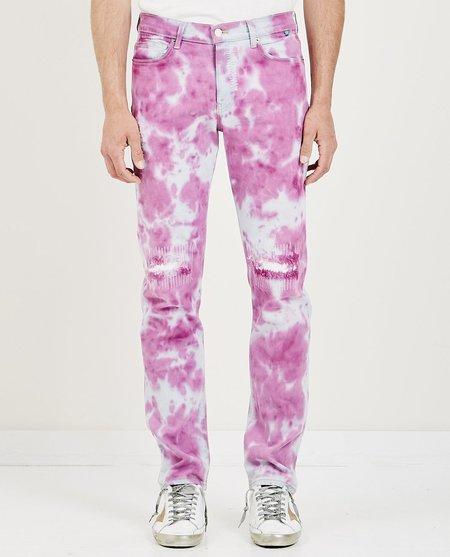 SYNC DENIM OVER DYE DENIM - PINK/WHITE