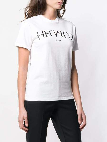 UNISEX Helmut Lang Logo Hack Little Tee - Chalk White