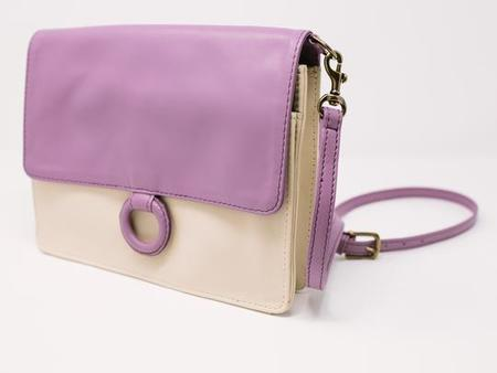 Payton James Leather Wallet Crossbody - Lavender