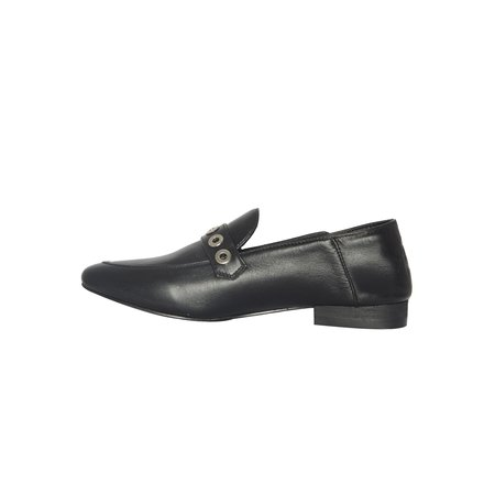CARTEL Ximena Loafer - black/grommets