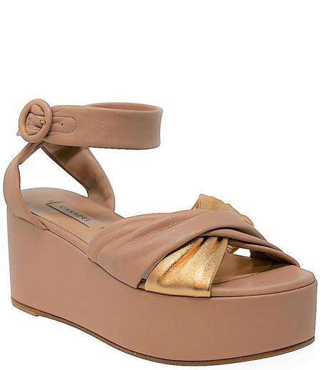 Casadei Wedge Sandal - Blush Pink