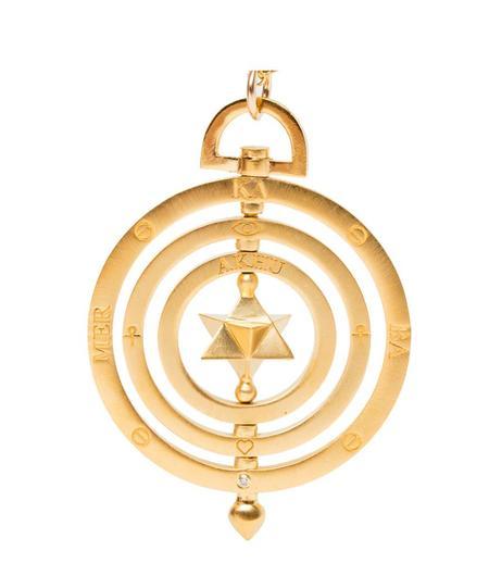 Indigo Unveiled Merkaba Celestial Necklace - 14k Gold