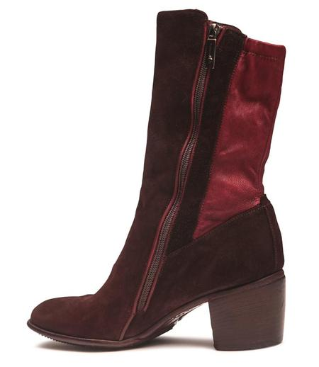 Lemargo Stretch Leather Mid Ankle Boot - Mosto