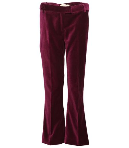 Giuliette Brown Flare Woven Pants - Red