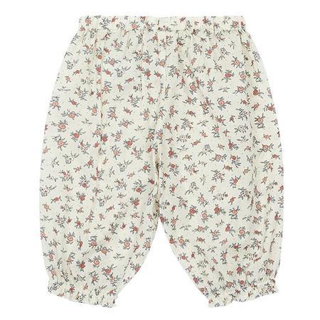 KIDS Bonton Ado Pants - Cream With Floral Print