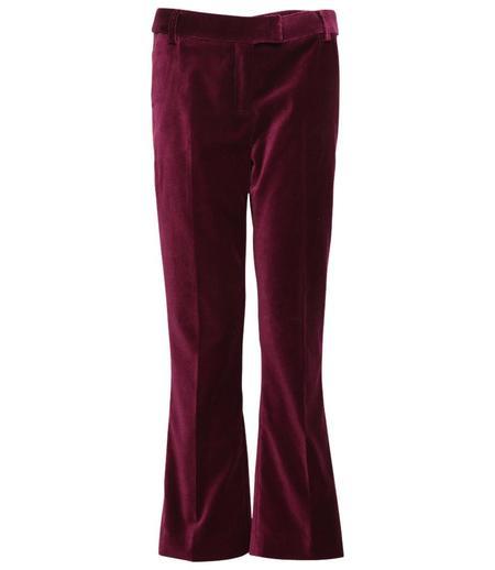 Giuliette Brown Flare Woven Pants - Violet