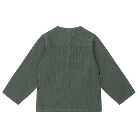 KIDS Bonton Feuille Crepe Shirt - Agate Green