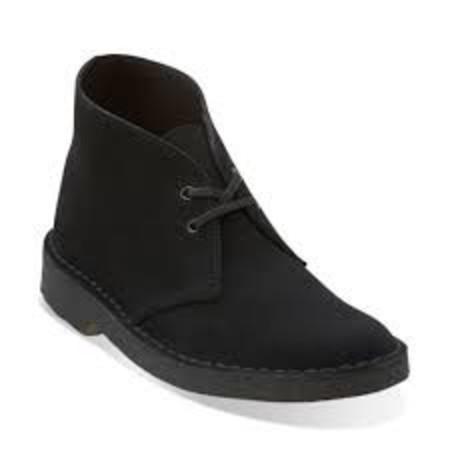 Clarks Women's Desert Boot Black Suede
