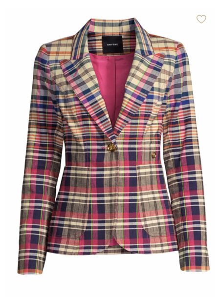 Smythe Blazer - Madras Plaid