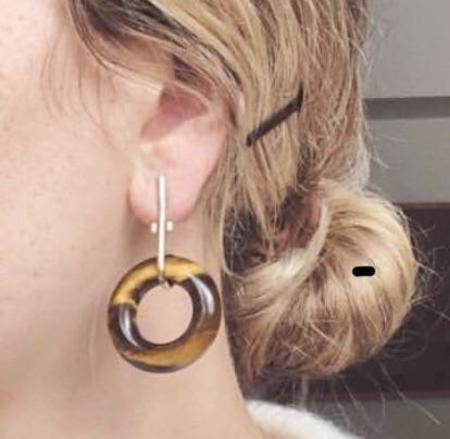 Mercurial NYC Tiger's Eye Earrings