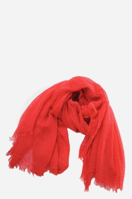 Botto Giuseppe Cashmere Linen Kefiah Scarf - Red