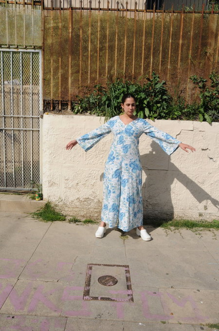 Weird Sisters Vintage Bell Sleeve Jumpsuit - Floral