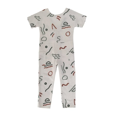 KIDS Feather Drum Corey Jumpsuit - Abstract