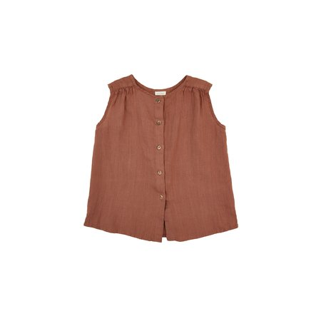 KIDS Nobonu Lima Blouse - Terracotta