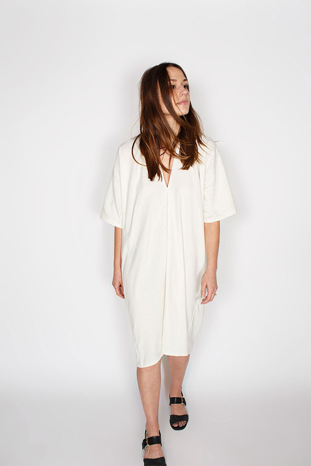 Miranda Bennett  Muse Dress, Silk Noil in Natural