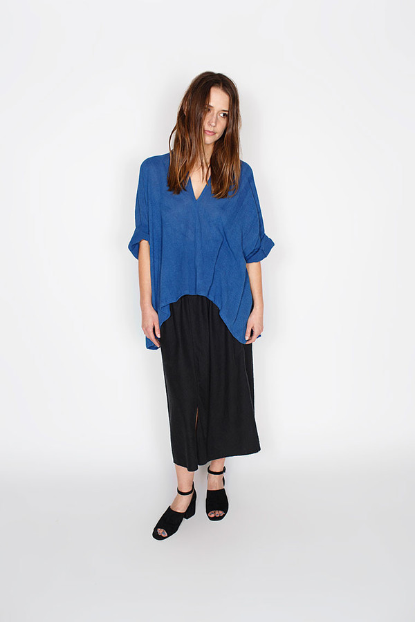 Miranda Bennett Muse Top, Cotton Gauze in Indigo