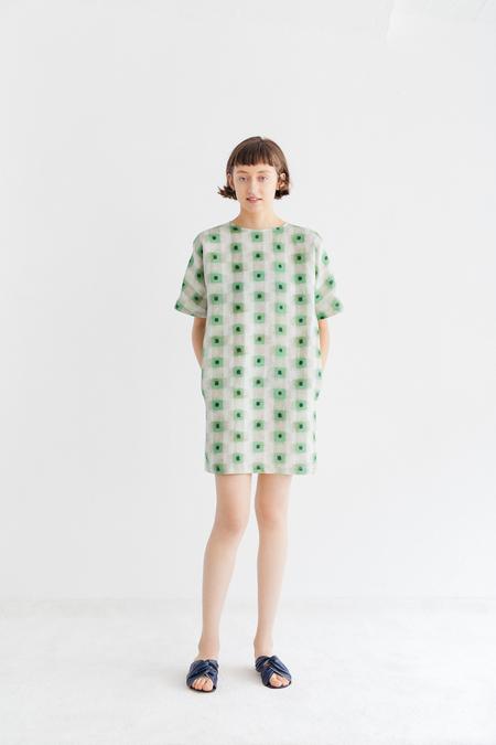 Samuji Belisma Dress in Kosmos - Green/Powder