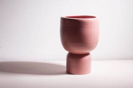 YYY puff pedestal vessel - Rose