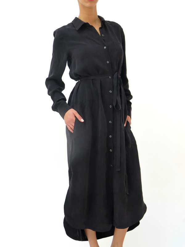 The Podolls Long-Sleeve Shirt Dress