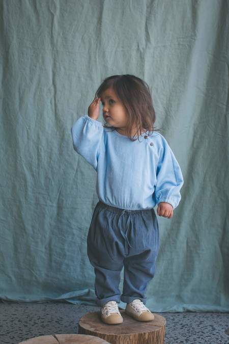 kids Feather Drum Slouchies - Bluemoon Corduroy