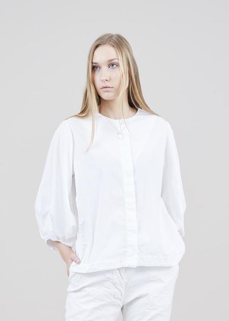 Aequamente Balloon Sleeve Shirt - white