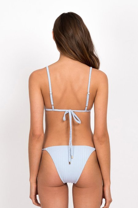 PEONY Cornflower String Bikini Bottom - Light Blue