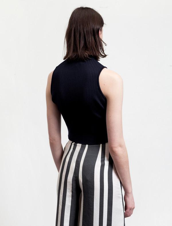 Etienne Deroeux Womens Tiffany Crop Sweater Navy