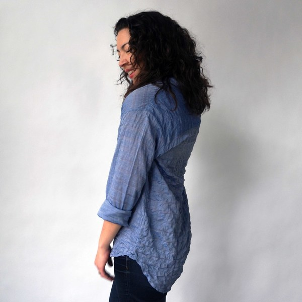 California Tailor Shirt No. 2 in Blue Blossom