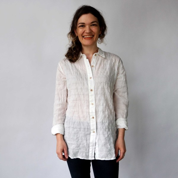 California Tailor Shirt No. 2 in Sea Cove White