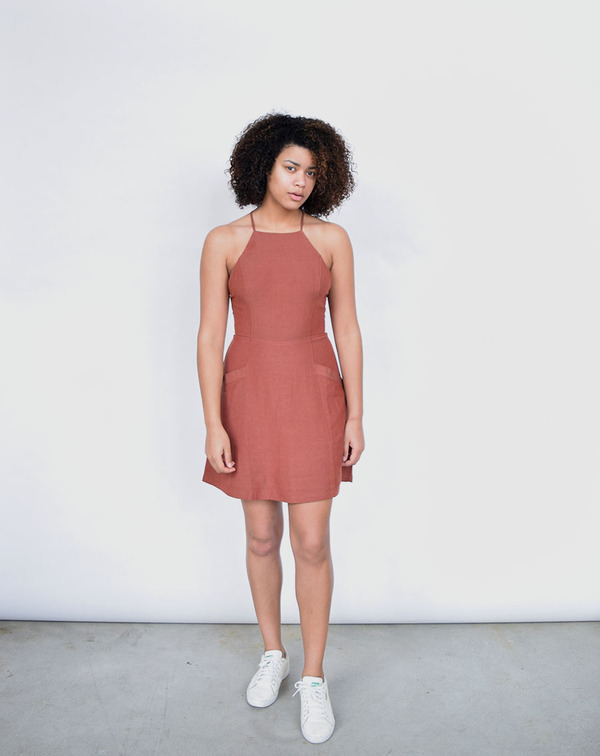 Lush Marsala Dress