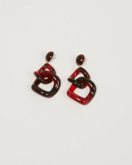 Valet Tamara Earrings - Red