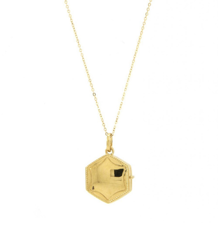 Jurate Brown Louise Necklace - 14k Gold