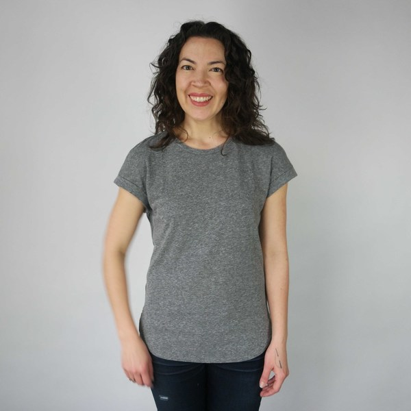 California Tailor Tomboy Tee in Grey